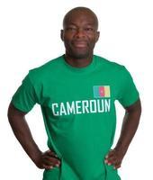 lachende sportfan uit Kameroen foto