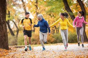 herfst joggen foto