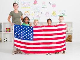 Amerikaanse kleuterschool foto