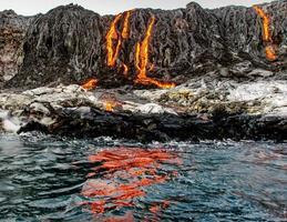 lava reflecties foto