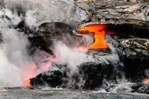 gebogen lava foto