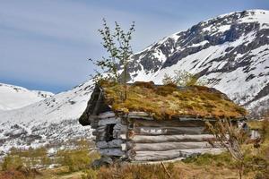 oude alpenhut bøsætra foto