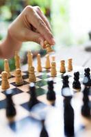 schaak speler foto