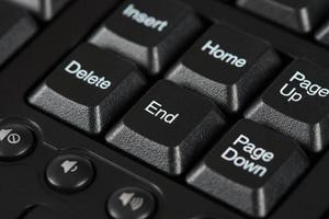 einde toetsenbordtoets foto