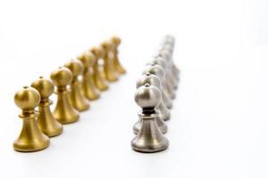 schaakspel - pionnen in een lijn foto