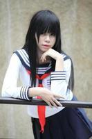 Aziatisch schoolmeisje foto
