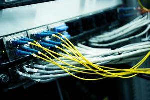 telecommunicatieapparaten in het datacenter foto