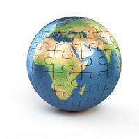 puzzel planeet aarde foto