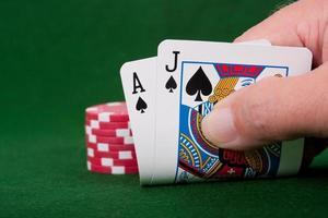 winnaar van blackjack foto