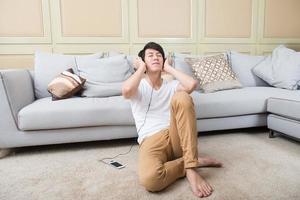 Aziatische jonge man foto