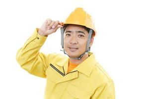 lachende Aziatische werknemer foto