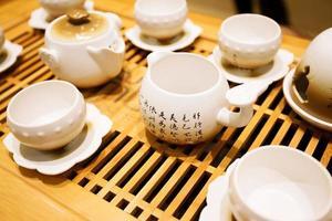 klassiek Aziatisch theeservies foto