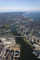 luchtfoto van vancouver foto
