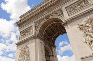 arc de triumph, parijs foto