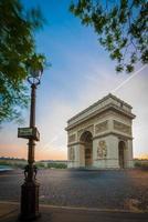 arc de triomphe, parijs foto