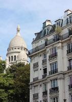 de basiliek van het heilig hart van parijs, montmartre foto