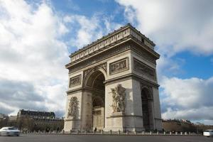 parijs, champs-elysees, arc de triomphe