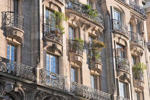 art nouveau gebouw in Parijs foto