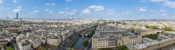 Parijs uitzicht vanaf de Notre Dame foto