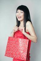 winkelend meisje van aziaat foto