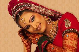 Aziatische bruid foto