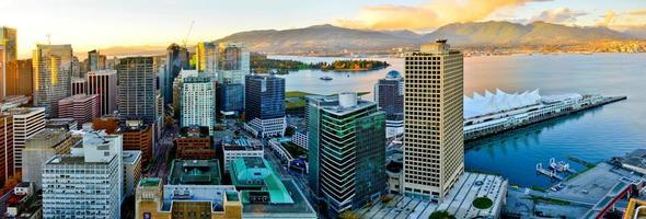 uitzicht op de stad van Vancouver foto