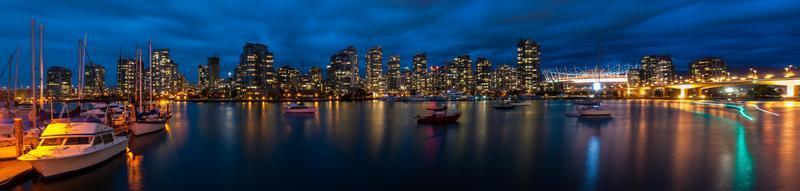 panoramisch uitzicht van Vancouver foto