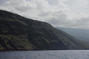 kustlijn op het grote eiland, Hawaï foto