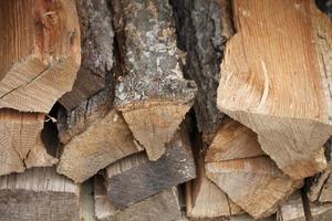 brand houten stapel foto