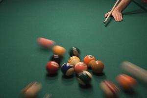 pool (biljart) spel foto