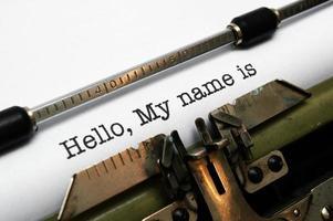 Hallo mijn naam is foto