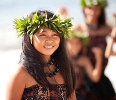 vrij Polynesisch meisje foto