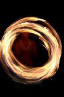 vuur danser abstract foto