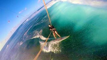 kitesurfen gopro selfie hawaii foto