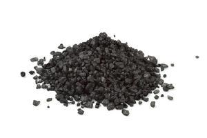 hoop zwarte zeezout foto