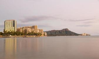 panorama van waikiki oahu hawaii foto
