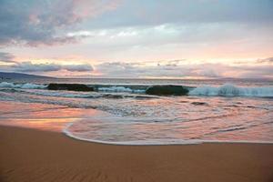 Wailea State Beach zonsondergang