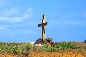 begrafenis op groot eiland foto