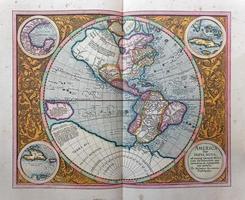 Amerikaanse kaart van 1595 foto