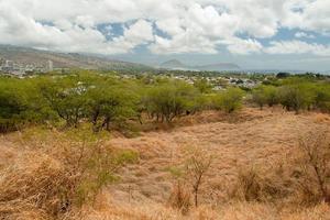 Diamond Head State Monument Park Trail sluit Honolulu op Oahu foto