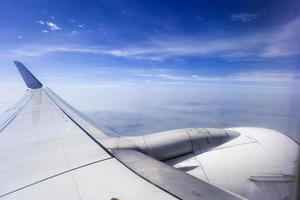 weergave van Xiamen vanuit vliegtuig foto