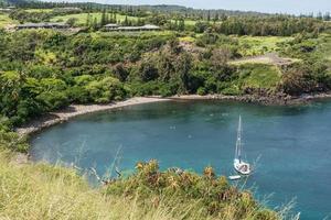 de baai in Kapalua, Hawaï foto