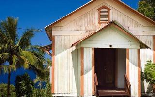 oude kerk huis in Hawaï foto