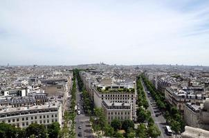 uitzicht vanaf de Arc de Triomphe, Parijs, Frans foto