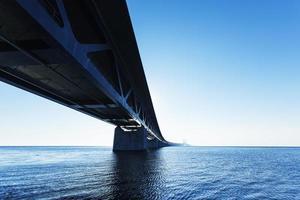 oresund bridge, oresunds bron, brug over de zee, foto