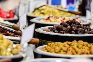 Italiaanse tafel van voedsel foto