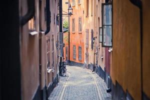 prachtig uitzicht op Gamla Stan Street, Zweden, Stockholm