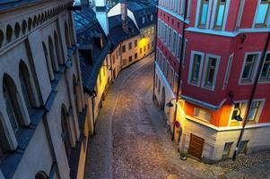 kleine straat in Stockholm