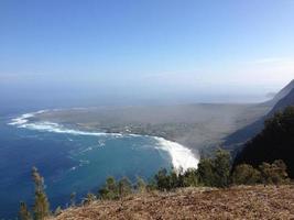 uitkijkpunt kalaupapa in molokai, hawaii foto