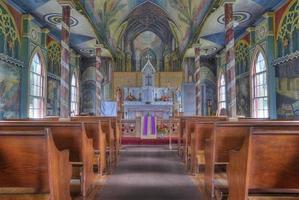 geschilderde kerk foto